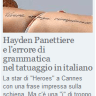 Corriere della Sera - Hayden Panettiere