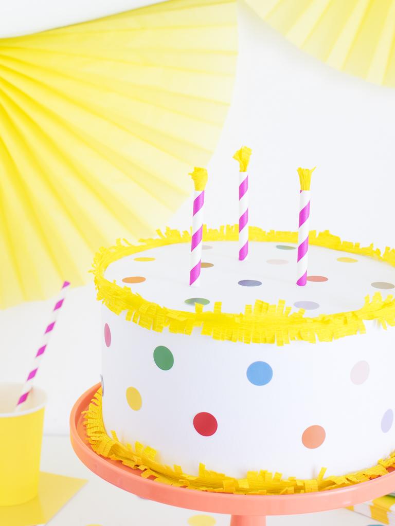 torta finta candeline