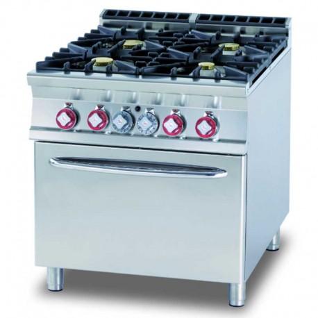 Cucina 4 Fuochi con forno a gas statico Macchine del gusto