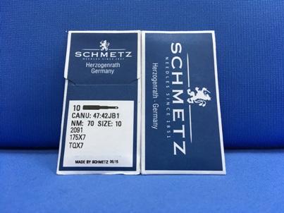 cartuccia da 10 aghi Schmetz Nm 70 Size 10 Sistema 2091