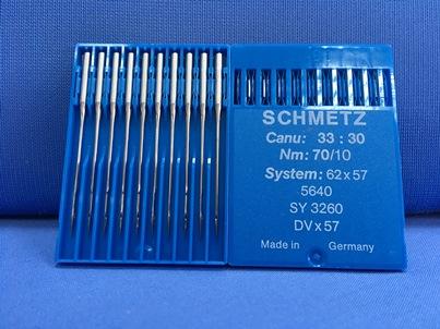 Confezione da 10 aghi schmetz sistema 62x57 70-10