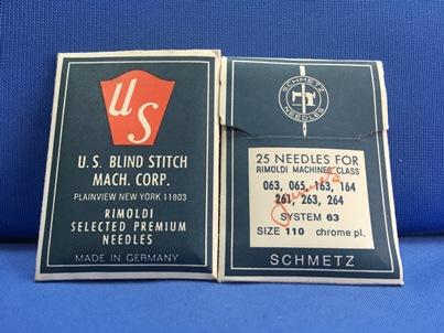Confezione da 25 aghi US Blindstitch Sistema 63 110