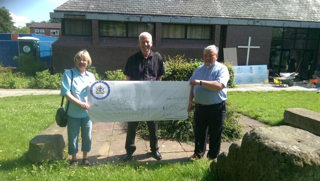Macclesfield Town Council Grant Cheque Prsentation
