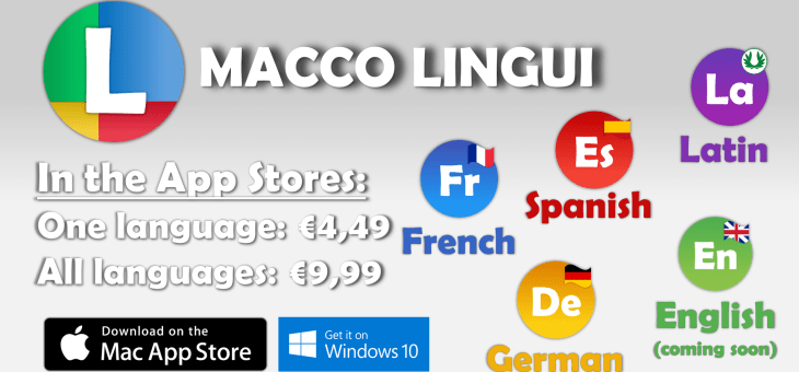 New: separate versions of Macco Lingui in the app stores!
