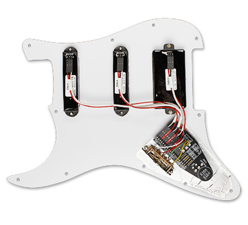medium resolution of emg kh20 kirk hammett s s 81 prewired pickguard white pearloid rh ebay com hss guitar wiring