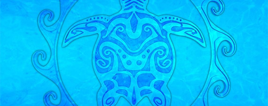 Polynesian style tribal turtle