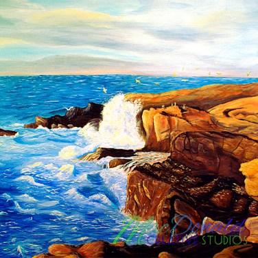 Oil seascape painting