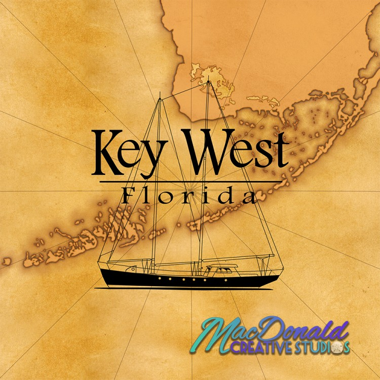 Sailing Key West coastal artwork.