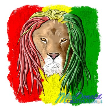 Rastafarian Jamaican Lion