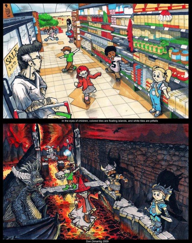 Tiles In the eyes of Children by MacDoninri