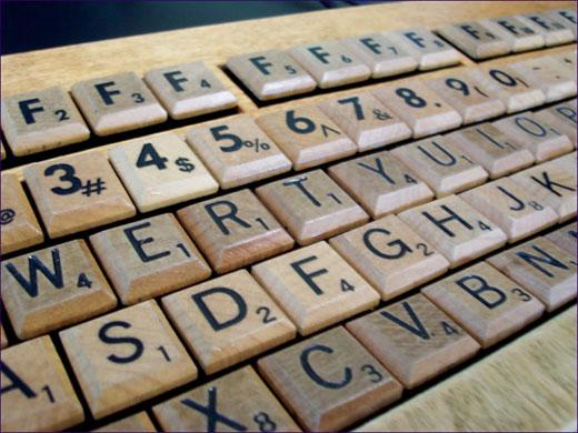 Scrabble Computer Keyboard