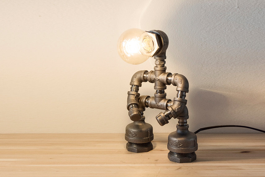 Robot Pipe Lamp  Macer Home Decor