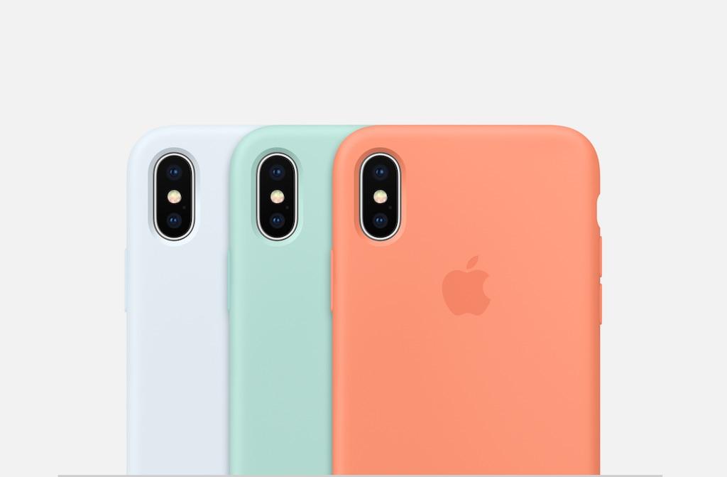 Apple prsentiert neue Farben fr die iPhone X87 Silikon