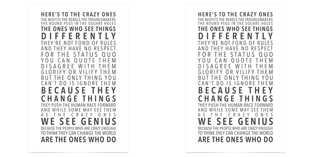 think different steve jobs poster