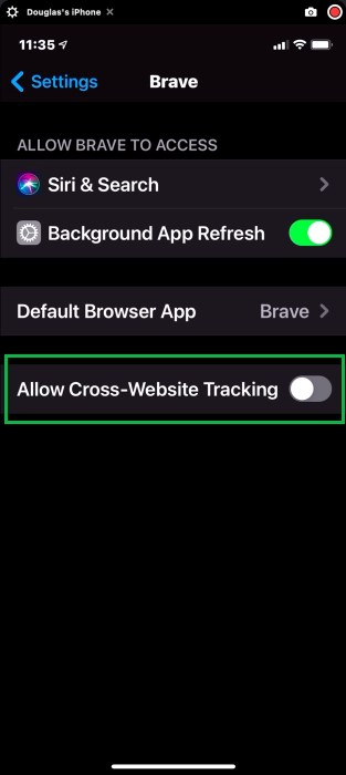 Brave Tracking