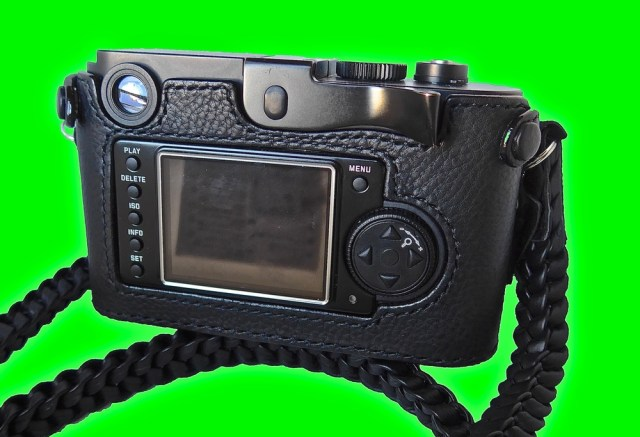The back of the Monochrom case is the closed design with cut-outs for the controls and screen. This is the Thumbs Up version. The standard version features a small raised bump below the shutter release. The fit and finish is impressive with none of the sloppiness evident in some competitors
