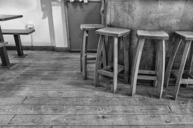 Bar stools at 12500 ISO. At this small size, remarkably little noise apparent. Click to enlarge.