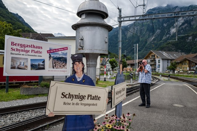 Schynige Platte Bahn at Wilderswill station: A journey into the past. Ralf Meier of  Trainphilos , über railway fan, grabs some technical stuff for the present. In the Berggasthausup on Schynige Platte you can spend the night as in grandmother