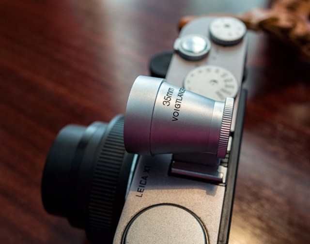 The X1 is an object of beauty and the Voigtländer 35mm finder is its perfect complement. Forget the fussy X2 with its unsightly hump and grab yourself a future classic