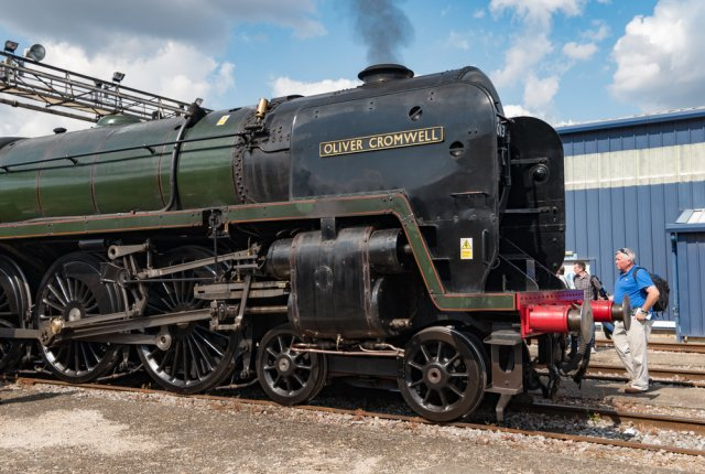 Oliver Cromwell, the Lord Protector of the Commonwealth, steaming into history