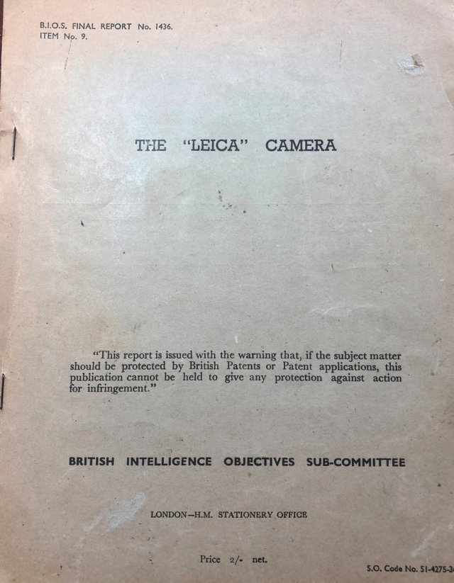 Rolled out on a Roneo duplicator and crudely stapled, the official intelligence report on E.Leitz provides a fascinating insight into the state of the Leica camera in 1946