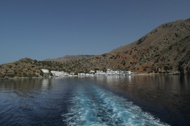 Loutro from the sea (ISO 125 1/1000th f8 24mm Leica C-Lux)