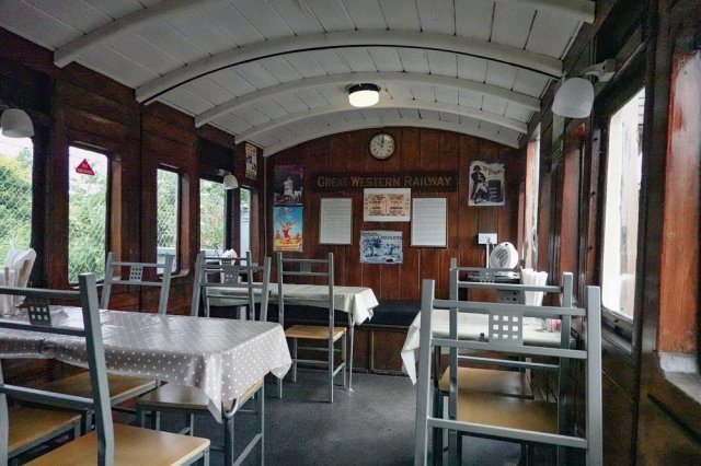 The buffet car, parked to the side of the main platform. This is a vintage carriage, probably dating from the 1880s when the line was opened. Below: Zoom in on the ticket, third-class of course, and reserved strictly for the hoi polloi and their offspring. The benefits of a 200mm zoom lens.  PS:  All the way from the District of Columbia, Ralf informs me that this coach was commissioned in 1895, but for carrying passengers, not for serving Victoria sponge.