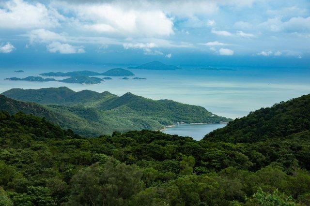 Typhoon threat: Looking from the Big Buddha on Lantau Island. 1/400s, f/4, 60mm