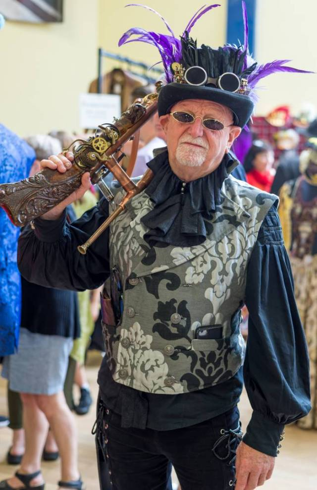 The Steampunk Guard. We now know what Mike does at weekends