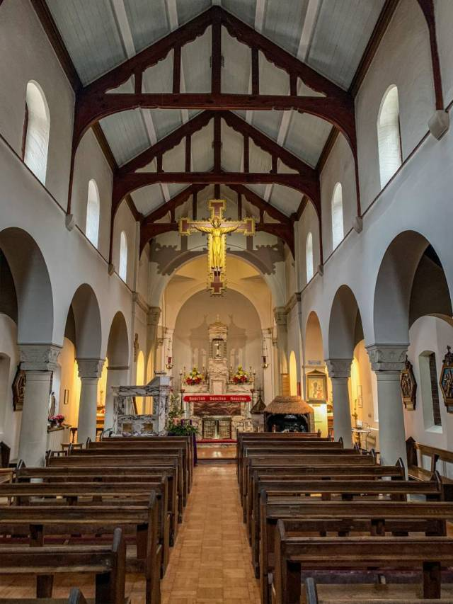 Inside the Roman Catholic Franciscan church of St Anthony of Padua in Rye. It's a Johnny-come-lately addition to the town, built in 1929, but definitely worth a visit