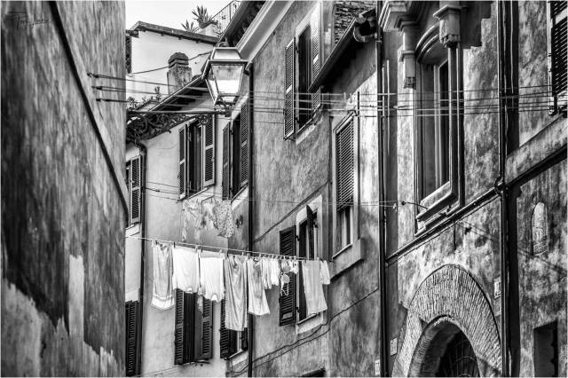 """""""Drying the Washing"""", taken in Rome (Leica Monochrom with the Apo-Summicron 75mm f/2 ASPH lens)"""