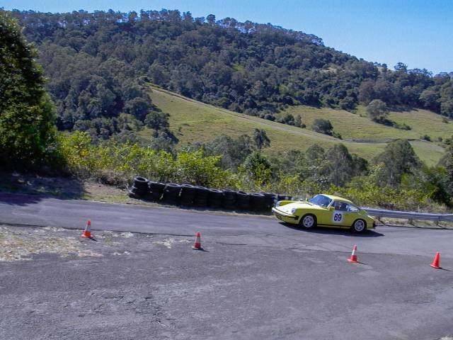 In action at the Dapto Hillclimb 2002. I won the upto 3 litre class that day and received a very small plastic trophy.