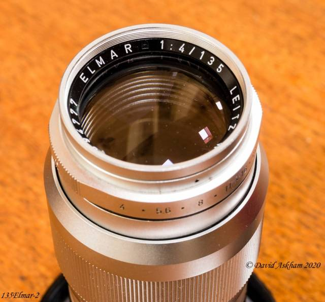 Front end of Leica 135mm f/4 lens (Leica X-Vario)