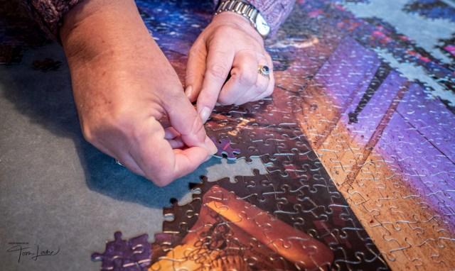 Doing a jigsaw...