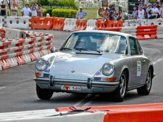 The restored 911 at the Speed on Tweed round-the-town sprint