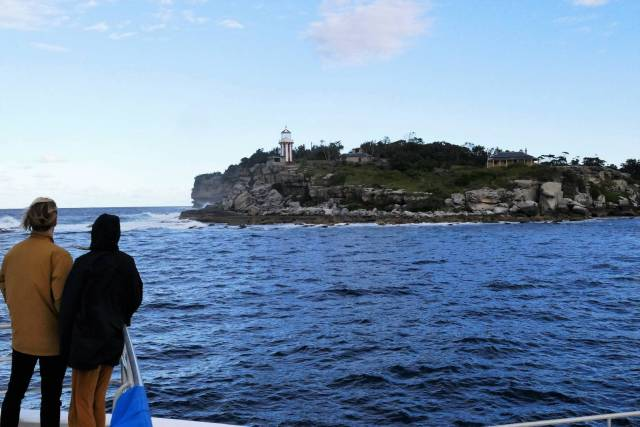 The light and the old lighthouse keeper's cottage on South Head  as we entered the Harbour