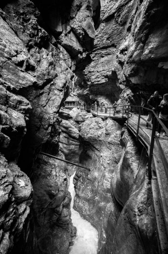 Breitach-Klamm. Leica M10-M with 21mm Super-Elmar at f/3.4 1/180s ISO 8000, Orange filter