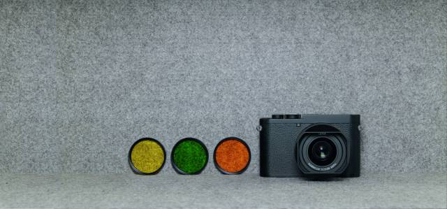 The Q2-M with three physical filters. The built-in filer effects work only with in-camera JPGs, so RAW shooters will need accessory filters to achieve similar results