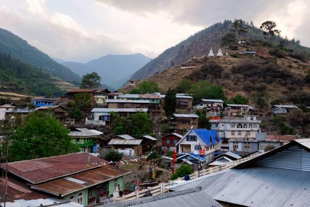 A view of Dirang Dzong