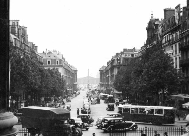 View from the Madeleine Church towards the Place De La Concorde with the obelisk clearly visible