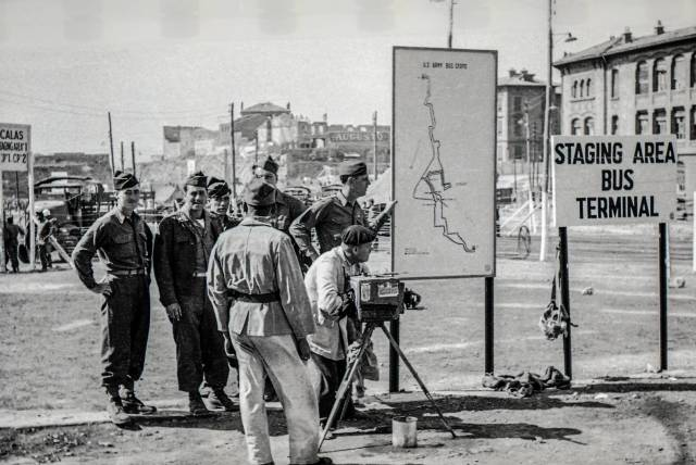 Film crew in Marseille