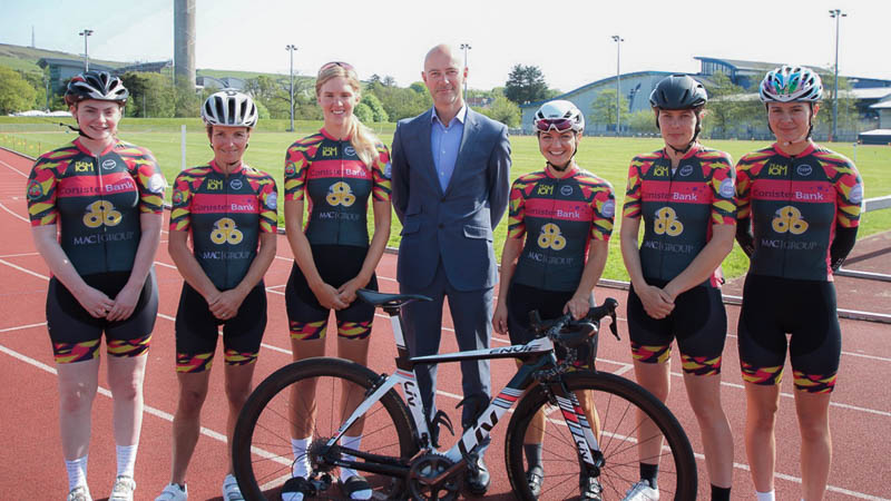 The Isle of Man Ladies Cycle Team