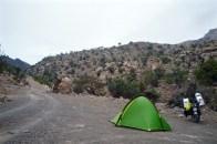 Unser Nachtlager in einem der zahlreichen Wadis