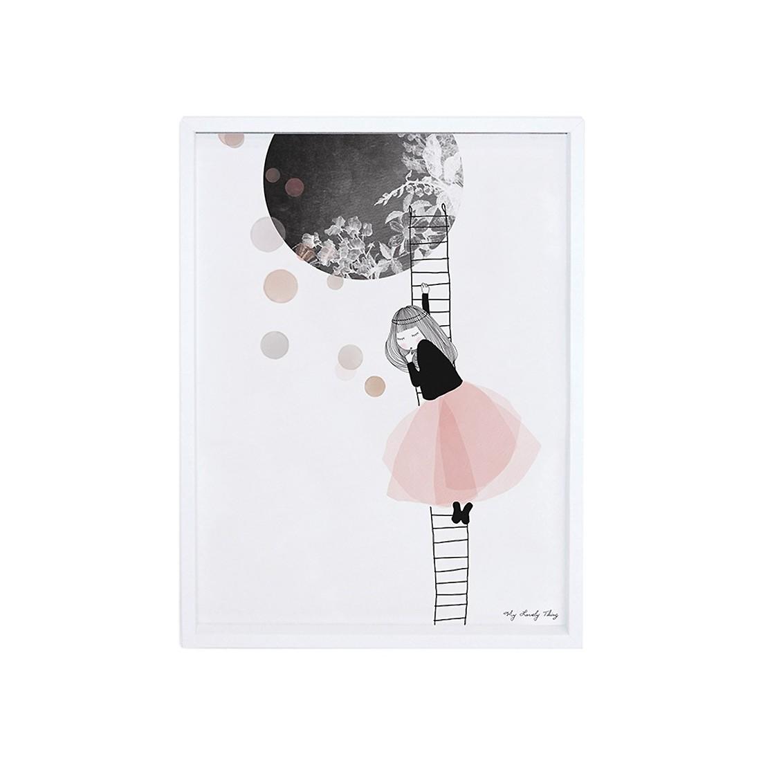 Tableau Enfant Affiche Encadre La Lune Lilipinso Ma