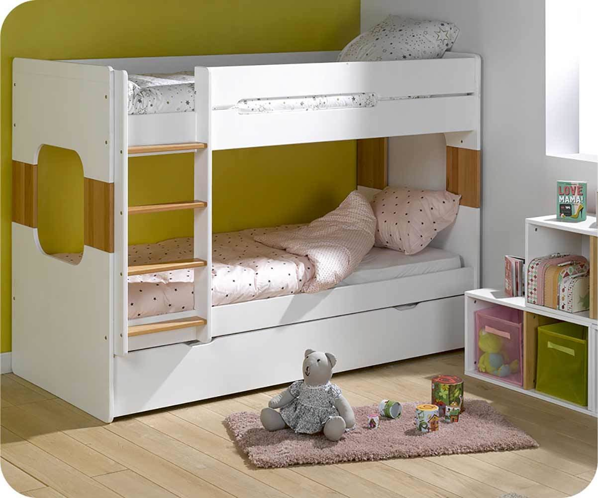 lit superpose enfant avec sommier gigogne spark