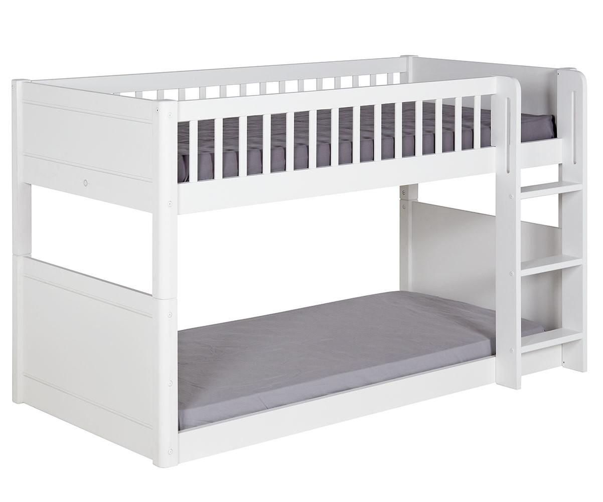 lit enfant superpose evolutif couchage bas avec 2 matelas rio