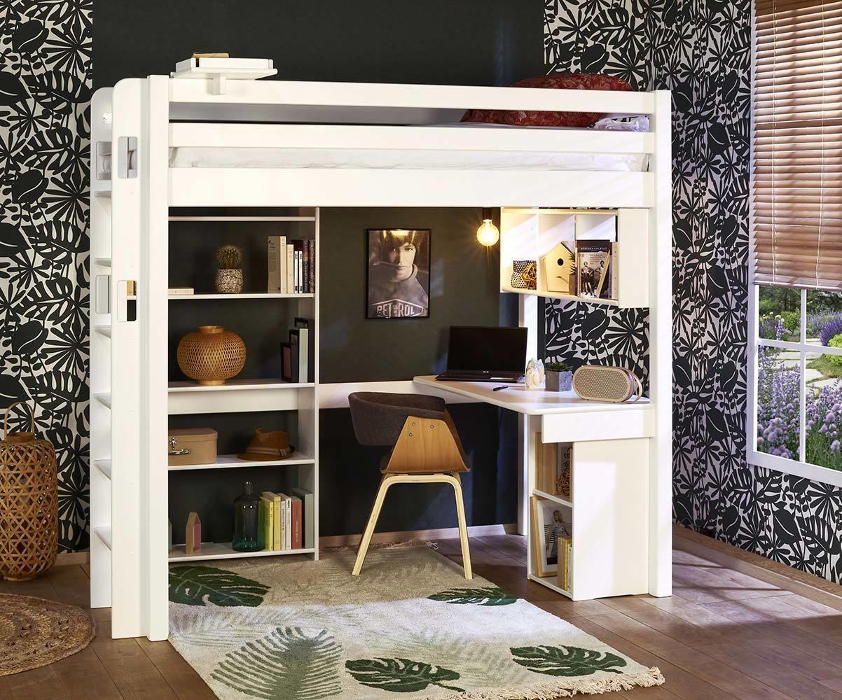 lit mezzanine enfant 2 places avec bureau fynn