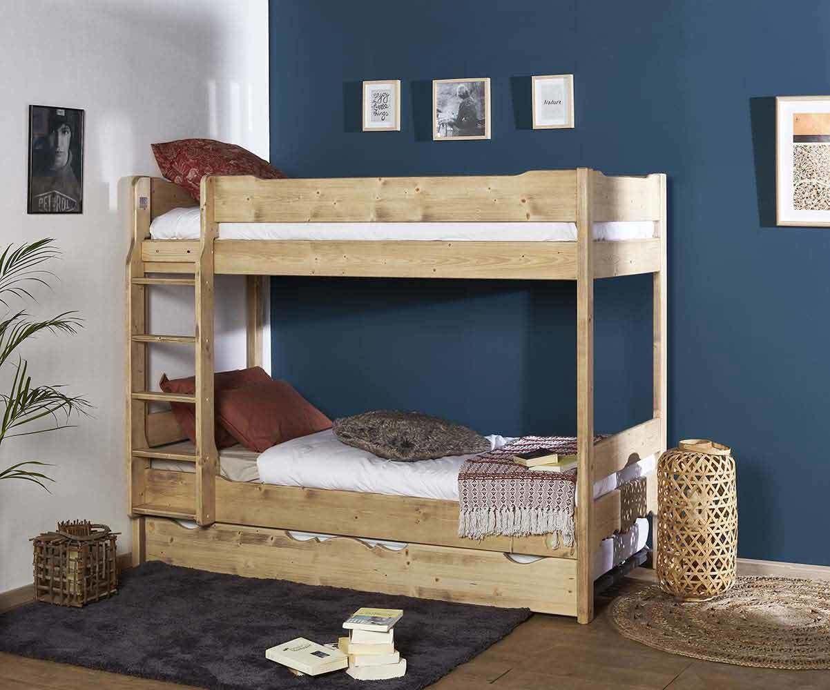 lit superpose enfant avec sommier gigogne antee