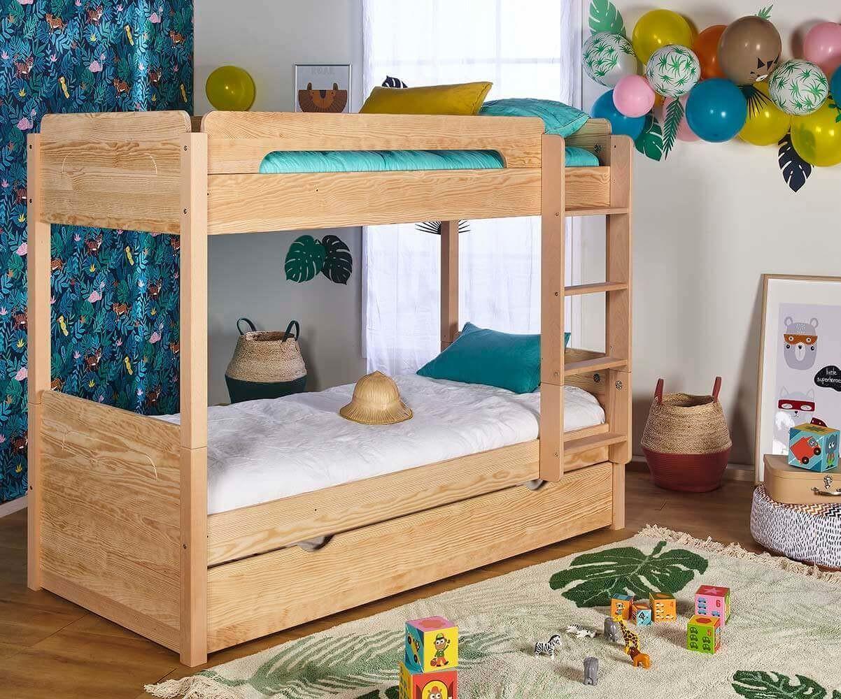 lit superpose enfant avec tiroir sweet