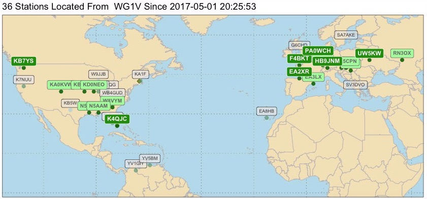 Announcing JT-Mapper: Real-time JT65 and JT9 Maps